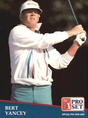 Trading card showing golfer Bert Yancey