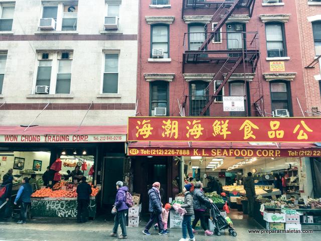 ruta por chinatown de nueva york