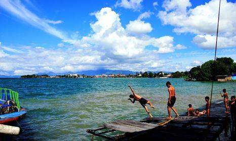 Tempat wisata pantai lumban silintong balige