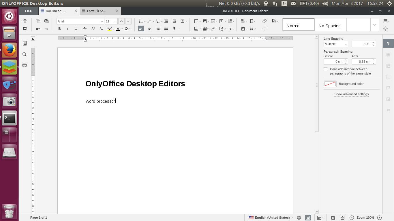 Review Onlyoffice Desktop Word Processor