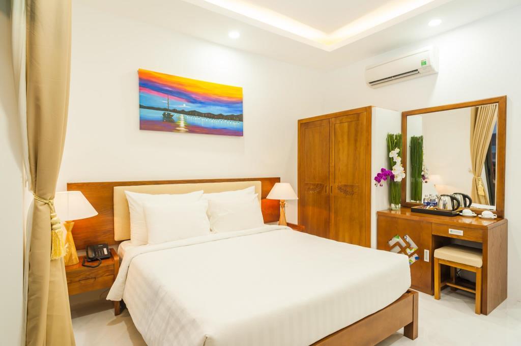 Hình ảnh phòng ngủ tại khách sạn Amon Phú Quốc