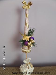 choinka, święta, boże narodzenie, złoty pociąg, jodła, zieleń, złoto, fiolet