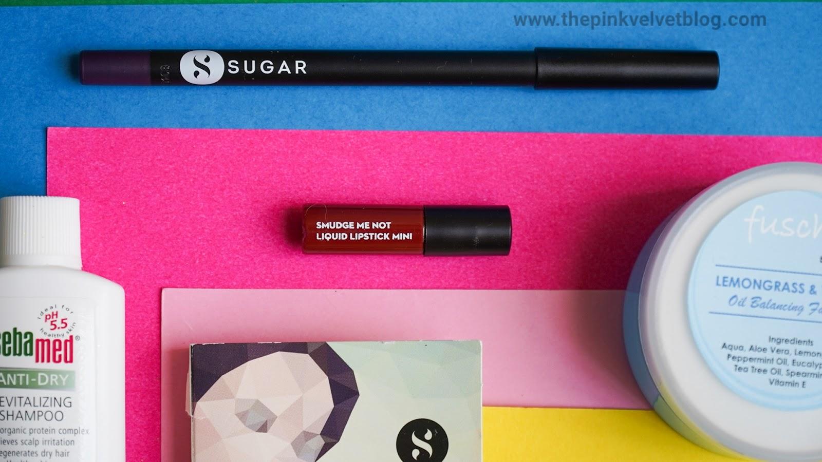 SUGAR Smudge Me Not Liquid Lipstick Sample - 01 Brazen Raisin - November Fab Bag