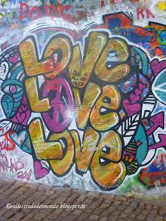 Il muro di John Lennon Praga