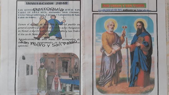 Es nähert sich das Pfarrfest zu Ehren unserer Patrone San Pedro und San Pablo. Mit den Autoridades des Dorfes haben wir das Programm entworfen. Ihr seid natürlich auch herzlich eingeladen.