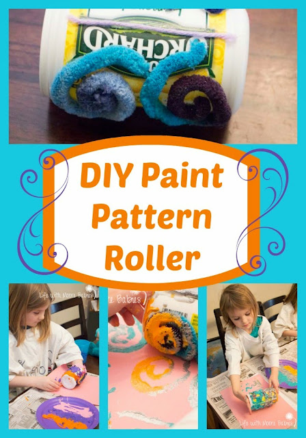 Do-It-Yourself Paint Roller to Explore Texture and Pattern