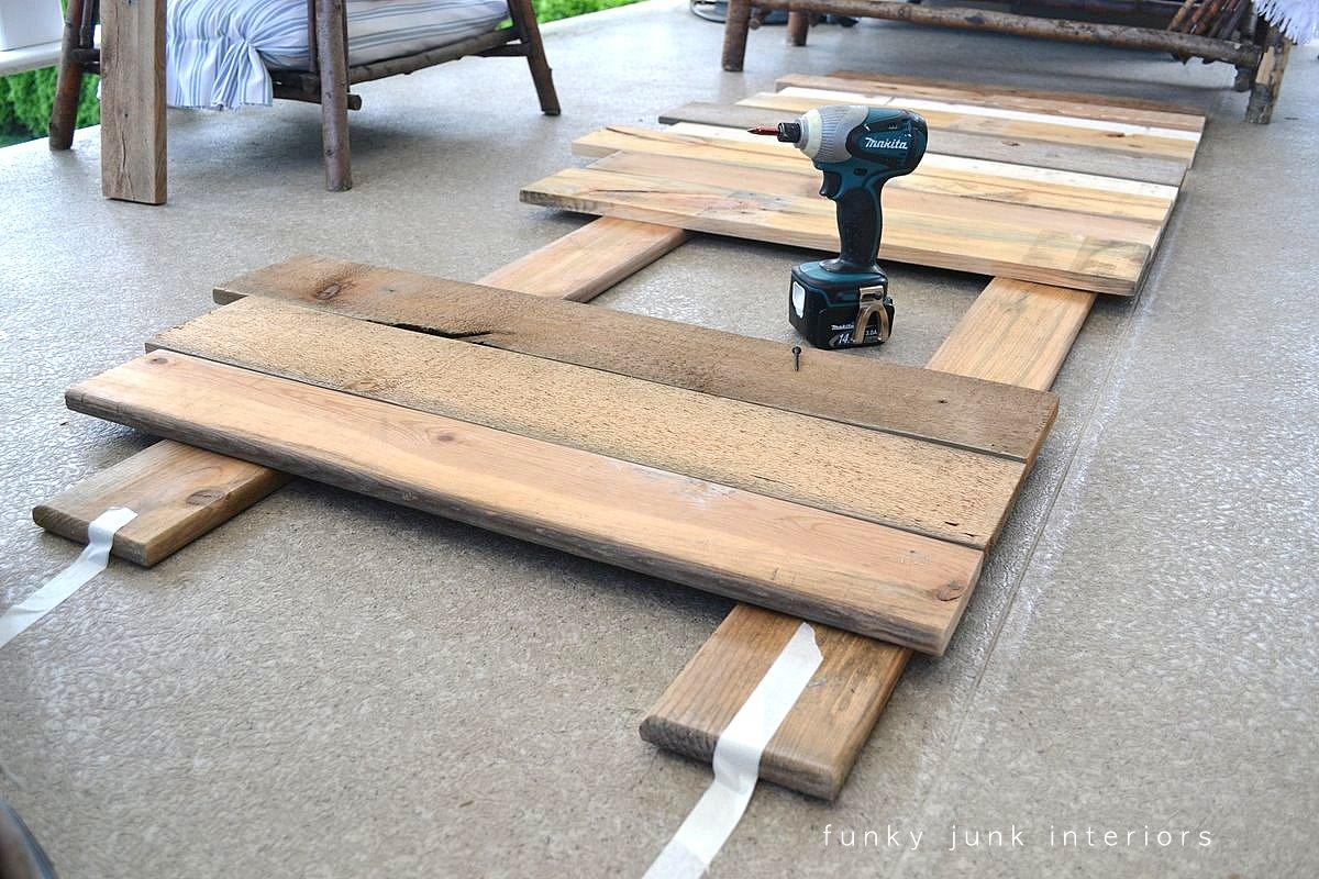 How I Built The Pallet Wood Sofa Part 2 Via Funky Junk Interiors