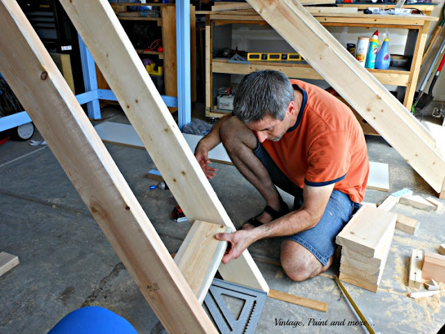 Vintage, Paint and more.. building a loft bed with a slide