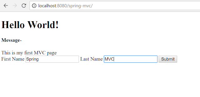 Spring MVC application view