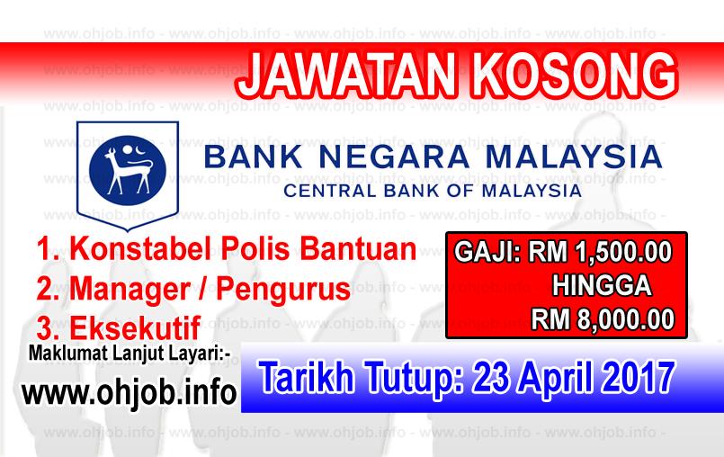 Jawatan Kerja Kosong BNM - Bank Negara Malaysia logo www.ohjob.info april 2017