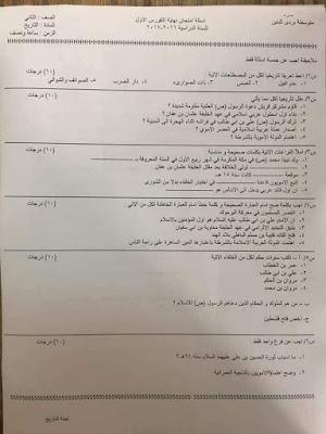 أسئلة أمتحان نصف السنة للصفوف (الأول والثاني والثالث)المتوسط الجزء الأول