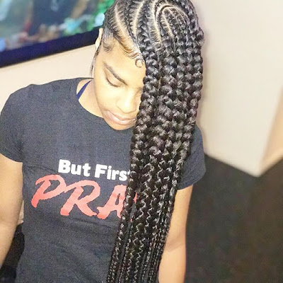 These came to be known as lemonade braids 34 Trendy Big Lemonade Braids Hairstyles Ponytails With Colors To Copy In 2019