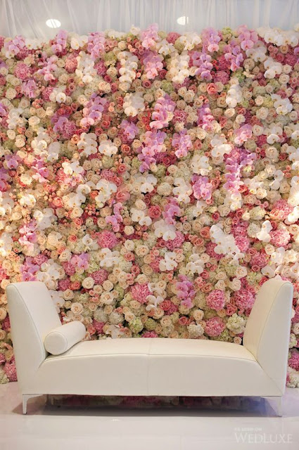 image via WedLuxe Magazine Flower wall