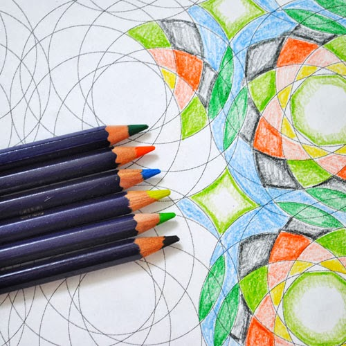 geometric coloring sheet