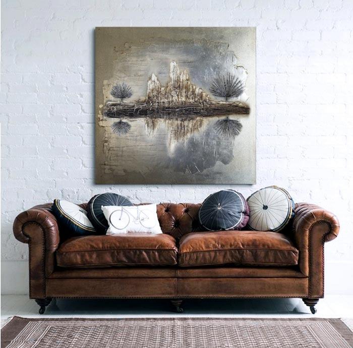 Sensaciones de hogar decorar con cuadros abstractos decorativos - Cuadros verticales modernos ...