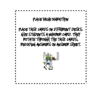Classroom Freebies: Place Value Marathon