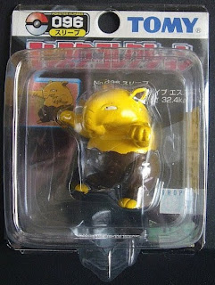 Drowzee Pokemon figure Tomy Monster Collection black package series