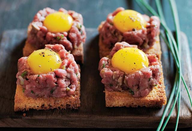 Steak Tartare on Brioche with Quail Eggs Recipe