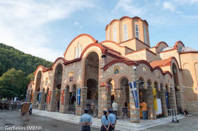 Η ακολουθία του Ακάθιστου Ύμνου στο Ιερό Προσκύνημα Παναγία Σουμελά, στο Βέρμιο