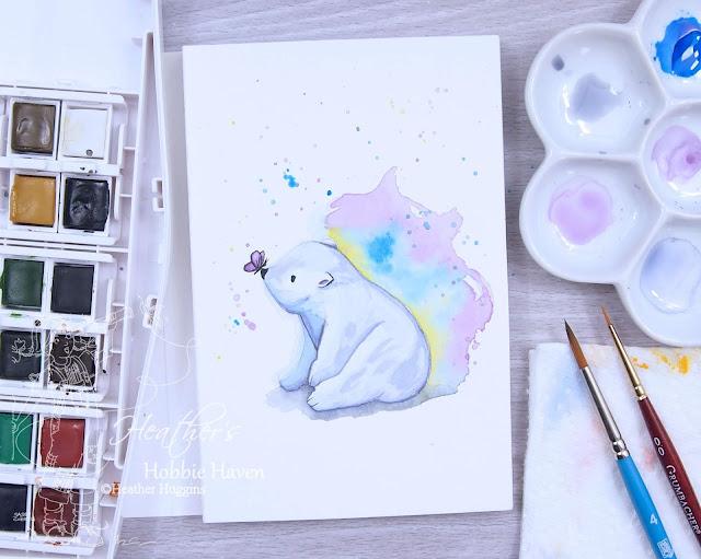 Heather's Hobbie Haven - Polar Bear Watercolor