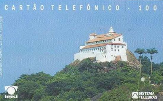 Cartão telefônico - Telest - Convento da Penha