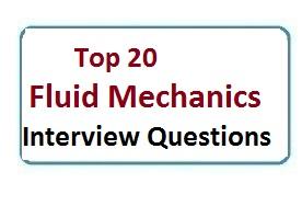 Interview Questions On Fluid Mechanics