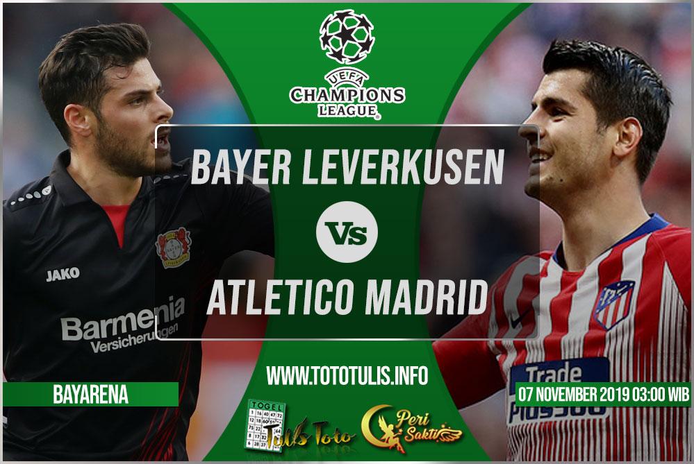 Prediksi Bayer Leverkusen vs Atletico Madrid 07 November 2019