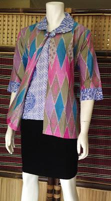Model Blouse Batik terbaru