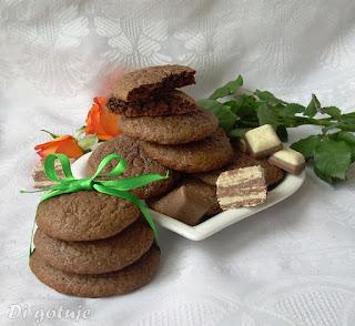 Ciastka czekoladowo-chałwowe
