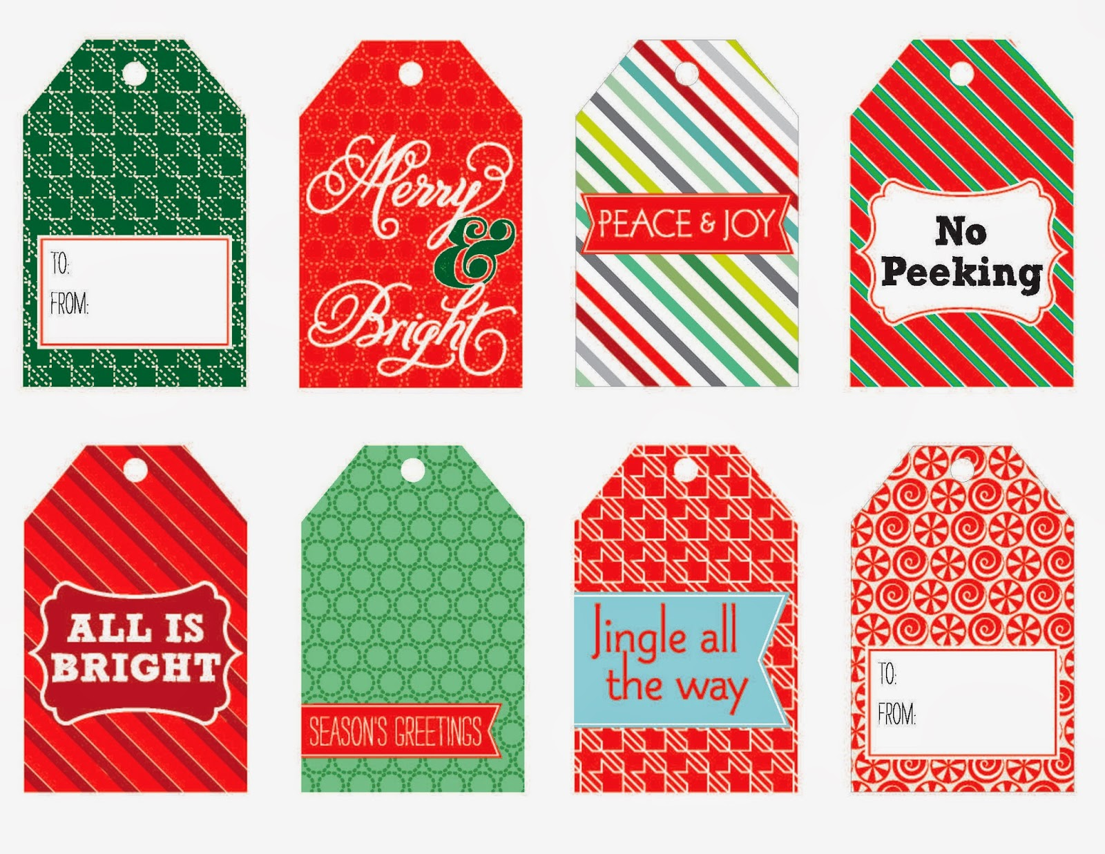 Christmas Tags: PINK PAPER COTTAGE: FREE PRINTABLE CHRISTMAS TAGS