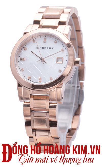 đồng hồ burberry nữ mới dây sắt