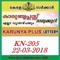KARUNYA PLUS (KN-205) LOTTERY RESULT