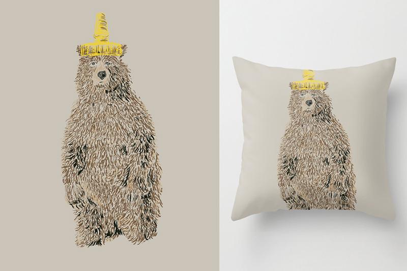 Honey Bear artwork by Danielle Podeszek