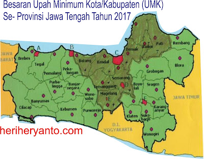 Daftar UMR UMK Tahun 2017 yang berlaku di Kota-Kab Se-Provinsi Jawa Tengah