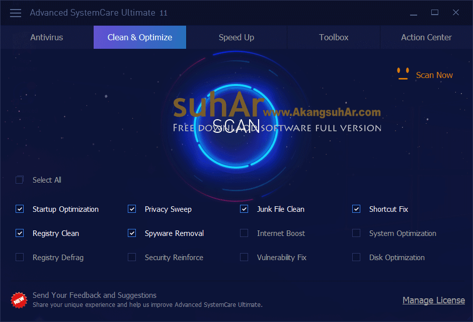 Gratis Download Advanced Systemcare Ultimate Plus Serial Key, Advanced SystemCare Ultimate Full Version Terbaru
