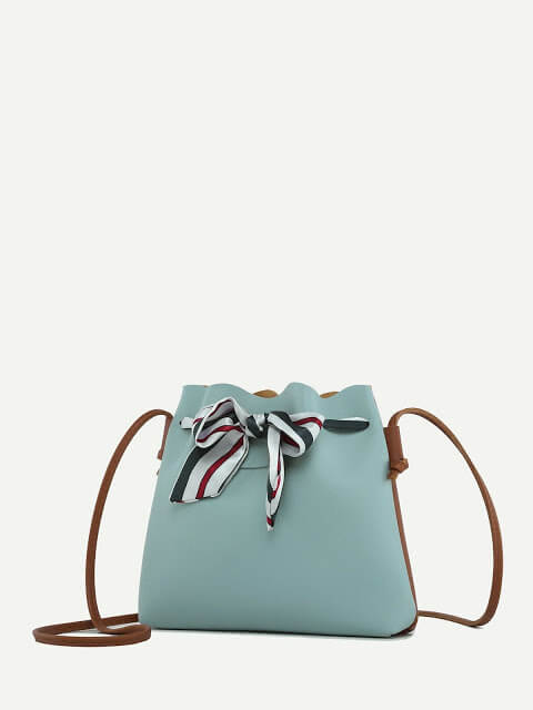 Striped Bow Decor Bag