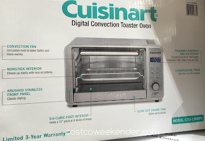 Costco 1019850 - Cuisinart CTO-1300PC Digital Convection Toaster Oven - All the power you need in a small cooking package