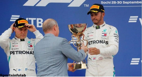 Hamilton wins in Russia to go 50 focuses clear