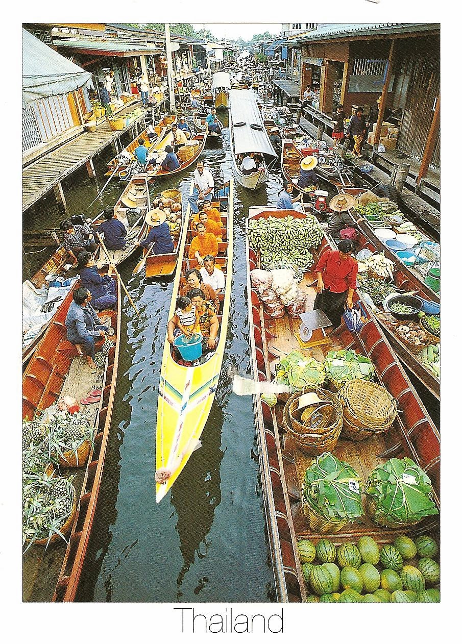 MY POSTCARD-PAGE: THAILAND ~Floating Market - Damnoen Saduak~