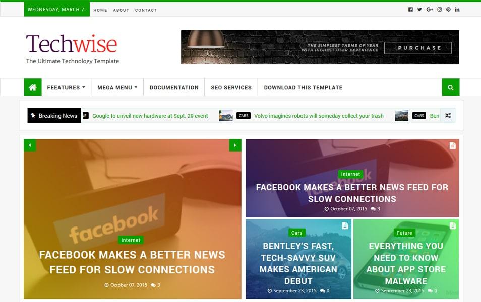 Techwise Magazine Blogger Teması