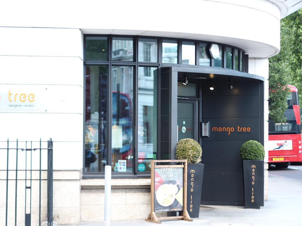 entrance to Mango Tree Thai restaurant in Belgravia London