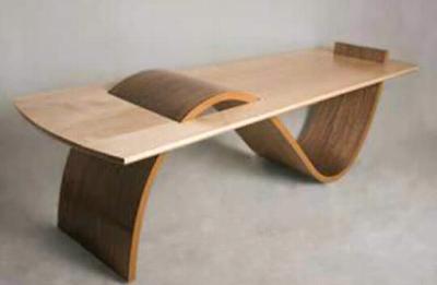 meja kayu trembesi unik