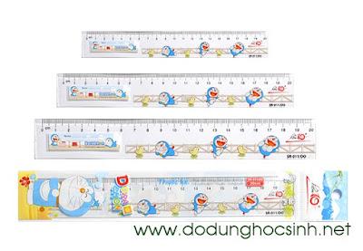 Thước kẻ SR-011/DO hình Doraemon (Thiên Long) - 20 cm