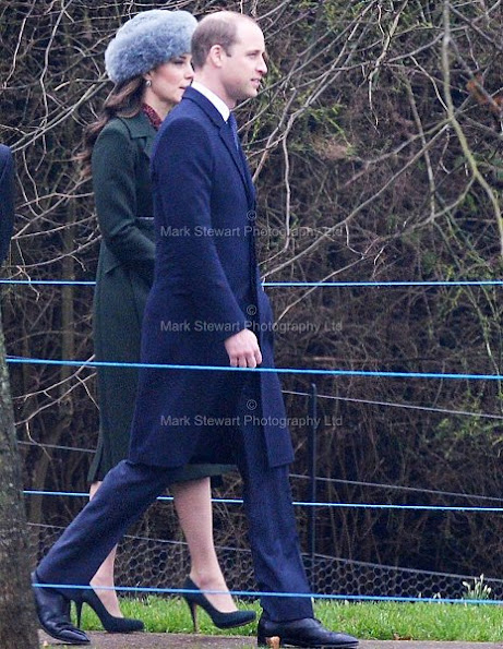 Queen Elizabeth II, Duchess Catherine of Cambridge, prince William, Kate Middleton wore SPORTMAX Long Belted Coat