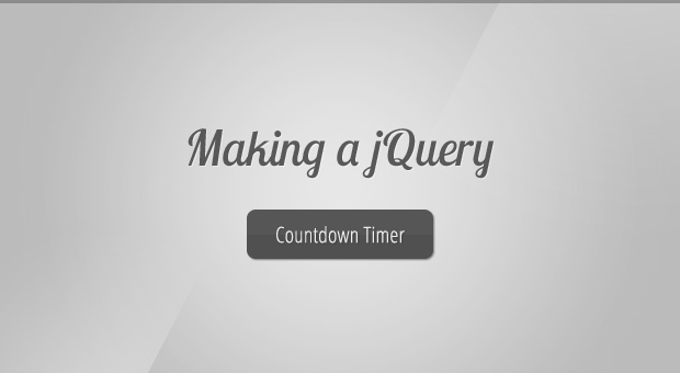 FREE Making a jQuery Countdown Timer