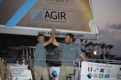 Adrien Hardy et Thomas Ruyant vainqueurs de la Transat AG2R 2018