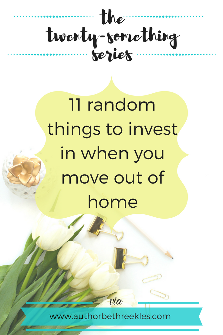 In this post I share some things you need to buy when you start living alone that you might not have thought of yet!