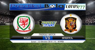PREDIKSI WALES VS SPANYOL 12 OKTOBER 2018