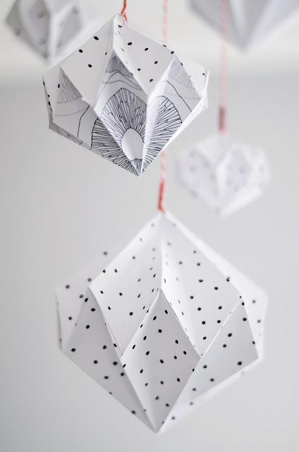 DIY Diamanten aus Papier