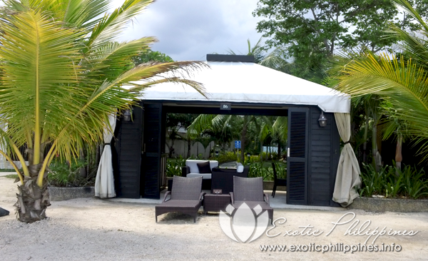Jpark Island Resort and Waterpark beach side cabana